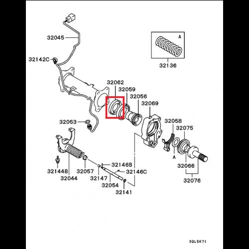 Mitsubishi Pajero Space: FEB Těsnění Gufero MITSUBISHI L200 96- PAJERO 91- PAJERO